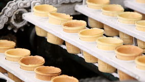 Automatic production line of ice cream stock video