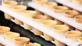 Automatic production line of ice cream. Video Automatic production line of ice cream stock video