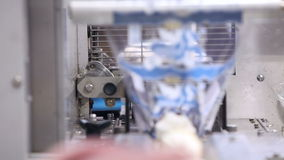 Automatic production line of ice cream. Video Automatic production line of ice cream stock video footage