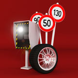 Automatic radar and traffic control  Royalty Free Stock Images
