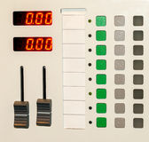 Automatic remote control. The control panel heating of industrial and residential premises Stock Image