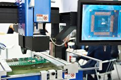 Automatic repair center for electronic boards and chips. Semi-automatic repair center for electronic boards and chips royalty free stock photo