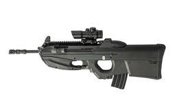 Automatic Rifle Isolated on White Background Left Stock Photos