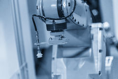 The automatic robot arm  for sheet metal forming Royalty Free Stock Image