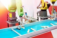 Automatic robot manipulator stock image