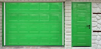 Automatic Roll-up Garage Gate and Door Royalty Free Stock Image
