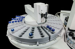 Automatic sample handling of analytical instrument. Isolates on black Royalty Free Stock Photography