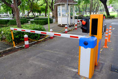 Automatic security fence for car park Stock Photography