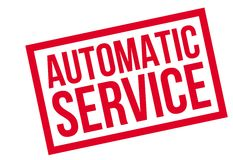 Automatic Service rubber stamp Stock Photo