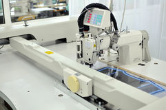 Automatic sewing machine Royalty Free Stock Image