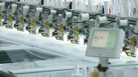 The automatic sewing machine and item of clothing, Detail of sewing machine and sewing accessories stock video
