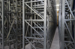 Automatic shelves system in a logistic warehouse Stock Image