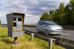 Automatic speed camera Stock Photo