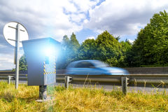 Automatic speed camera Stock Images