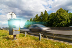 Automatic speed camera Royalty Free Stock Images