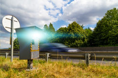 Automatic speed camera Royalty Free Stock Photo