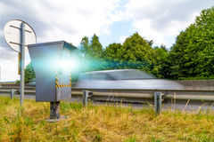 Automatic speed camera Royalty Free Stock Photography