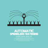 Automatic Sprinklers Watering Royalty Free Stock Photo