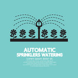Automatic Sprinklers Watering royalty free illustration