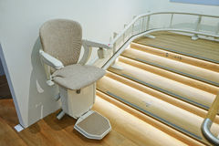 Automatic stair lift. Stock Photography
