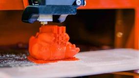 Automatic three dimensional 3D printer machine printing plastic model royalty free stock image