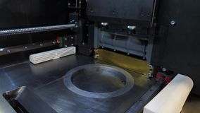 Automatic three dimensional 3d printer performs product creation. Modern 3D printing or additive manufacturing and. Robotic automation technology 4K stock video