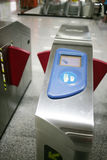 Automatic ticket check machine Stock Image