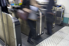 Automatic ticket checker Royalty Free Stock Photos