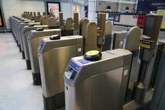 Automatic Ticket Gate in Victoria Underground Station Stock Photos