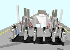 Automatic Ticket Gates Stock Images