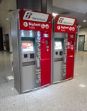 Automatic ticket machines. Ticket machines at railway station of Rome Stock Photos