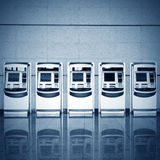 Automatic ticket vending machines Royalty Free Stock Image