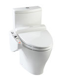 Automatic toilet bowl royalty free stock photography