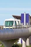 Automatic train. On the bridge Royalty Free Stock Image