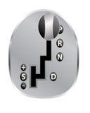 Automatic transmission. Illustration of automatic transmission on white royalty free illustration
