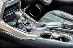 Automatic transmission gear shift. A Automatic transmission gear shift stock photo