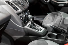 Automatic transmission gear shift in car Stock Photography