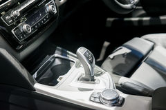 Automatic transmission gear shift in car Stock Image