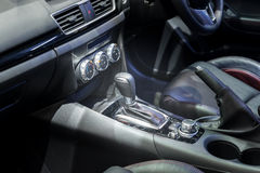 Automatic transmission gear shift in car Stock Images