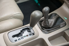 Automatic transmission gear shift Royalty Free Stock Photos