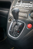Automatic transmission gear shift. Car interior. Automatic transmission gear shift Royalty Free Stock Images