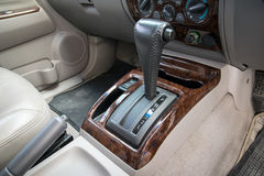 Automatic transmission gear shift. Car interior. Automatic transmission gear shift Royalty Free Stock Image