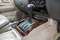 Automatic transmission gear shift. Car interior. Automatic transmission gear shift Royalty Free Stock Photography