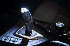 Automatic transmission shift gear. In sports car Royalty Free Stock Photos