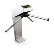 Automatic turnstile isolated on white background. 3d. Royalty Free Stock Photos