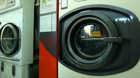 Automatic washing machine in laundry, close-up Royalty Free Stock Photography