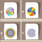 Automatic washing processes Royalty Free Stock Photos