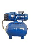 Automatic water pump in the basement Royalty Free Stock Photos
