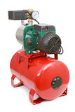 Automatic water pump on white background Royalty Free Stock Photos