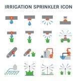 Irrigation sprinkler icon. Automatic water sprinkler and irrigation system for garden and lawn Royalty Free Stock Image